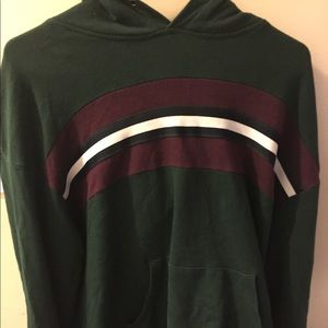 Zumiez Hoodie Green, Burgundy, White Women's Large